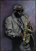 dessin personnages jazz sax : solo sax