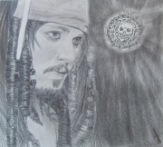dessin personnages johnny deep pirate jack sparrow : jack sparrow