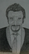 dessin personnages : Johnny Hallyday N° 2