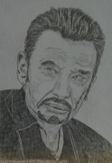 dessin personnages : Johnny Hallyday N° 3