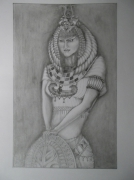 dessin personnages : pharaon..e