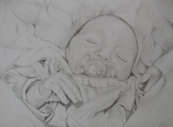 Dessin Portrait Enfant Crayon Dessin Portrait Exemple De Réalisation
