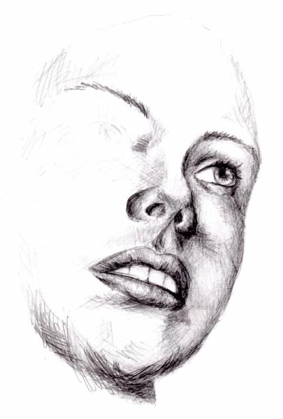 Dessin Portrait Visage Femme Face Portrait 2