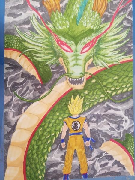Dessin Sangoku Dragon Ball Shenron Sangoku