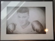 dessin sport portrait ali clay boxe : rumble young boy