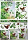 Craft Creations Easy To Use Die-Cut 3D Decoupage Wren In Mayblossom DCD557