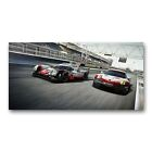 Porsche 911 919 Tableau Poster Plaque Photo Déco Voiture Course Michelin Circuit