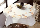 VERVACO  0148207  Nappe  Herbes  oranges et Papillons  Broderie Traditionnelle