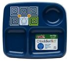 Zak! Designs Toddlerific 3-Section Toddler Plate - Blue Monkey or Pink Owl