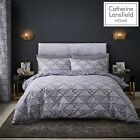 Catherine Lansfield Art Deco Easy Care Quilt/Duvet Cover Bedroom Collection Grey