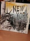 cadre tableau toile new york 40×40