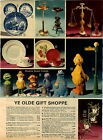 1976 ADVERT Sesame Street Friends Gorham Paper Papier Mache Strawberry Melamine