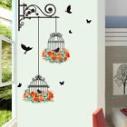 cage à oiseaux Wall & papier bricolage art Stickers 3D vinyl Wall Stickers Parfa