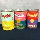 Andy Warhol Limited Edition Campbell's Tomato Soup Cans Set Of 3 Vintage