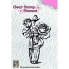 Tampon transparent clear stamp scrapbooking Nellie's Choice VASE ROSE 013