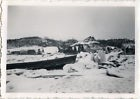 PHOTO ANCIENNE - VINTAGE SNAPSHOT - PAYSAGE FROID GLACE HIVER 1940-1941 - WINTER