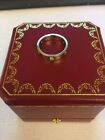 Authentic Cartier 18k White Gold 3 Diamond Love Band Ring Size us 7 With Box