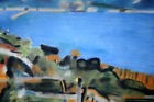 FUSIN-ABSTRAIT-SURREALISTE-MODERNISTE-ABSTRACTION-CRAIE GRASSE-PAYSAGE-2/2MARINE