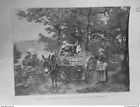 1887 UI 28/5 CERNAY MARCHAND VOLAILLES ROUTE CHARIOT TABLEAU DAMERON