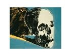 Reproduction d'art Skull, c.1976 (yellow on teal) de Warhol, Andy Chambre Décor