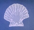 Napperon dentelle au crochet Coquille Saint Jacques fait linge de table.