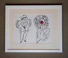 ANDY WARHOL FRAMED SAILORBOY IN THE BOTTOM OF MY GARDEN GRANOLITHOGRAPH 1976