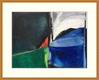 GUILLAUMEL Gouache originale Tableau abstrait 1955 Prix de Rome Abstraction