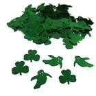 Confettis Vert Saint Patrick 14g forme trefles + fantomes decoration de table
