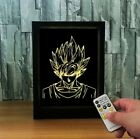 cadre lumineux 3D Dragon Ball Z  Photo Night Light 7 Couleurs lampe veilleuse