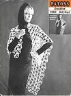 Vintage Crochet Poncho Shawl,Chunky Yarn, Quick and Easy,  Patons 1460