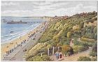 BOURNEMOUTH FROM ZIG ZAG PATH - Artist AR Quinton - Salmon Card 3197 - Unposted