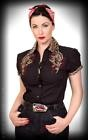 Chemisier femme manga coupe broderie rockabilly Heaven 'n' Hell léopard Rumble59