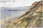 EAST CLIFF & ZIG ZAG BOURNEMOUTH - Artist AR Quinton - J Salmon 924 - Unposted