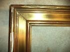 ANCIEN GRAND CADRE BOIS DORE OR  FEUILLURE 55,5 X 46,5 FRAME  FRENCH ANTIQUE