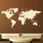 World Map Wall Art Sticker Removable Vinyl Decal X-Large Study Office (AS10009)