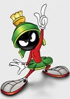 STICKER AUTOCOLLANT POSTER A4 DESSIN ANIME LOONEY TOONS.PERSO MARVIN LE MARTIEN.