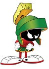 STICKER AUTOCOLLANT POSTER A4 DESSIN ANIME LOONEY TOONS.PERSO MARVIN MARTIEN N°2