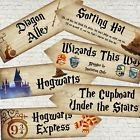6 Harry Potter Hogwarts Wizards Party Decoration Arrow Signs