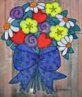 WICOART WINDOW COLOR STICKER STATIC CLING ART NAIF VITRAIL LE BOUQUET DE FLEURS