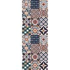 UTOPIA Tapis de couloir carreaux de ciment  67x180 cm orange, bleu et blanc