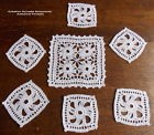 NAPPERONS FAITS MAIN AU CROCHET D'ART CREATION SYLVETTE RAISONNIER LOT 7 BLANCS