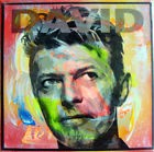 david bowie TABLEAU pop street art graffiti painting french obey signed
