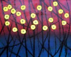 fleurs jaunes TABLEAU pop street ART abstrait paint canvas signed french hayvon