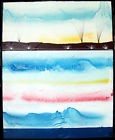 horizons bleus TABLEAU pop street ART abstrait paint canvas signed french hayvon
