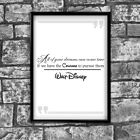 Motivational Inspirational Positive Quote Walt Disney Poster Print Wall 248