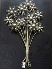Dunelm wall art metal flower with white pearls brand new sealed size 70 by 40cm