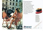 Publicité Advertising 127  1995   Damart  (2p) ballerines  vente catalogue