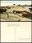 Egypt Old Colour Postcard Port Said Fabrication des barques, Manufacturing Boats