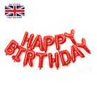 LARGE HAPPY BIRTHDAY SELF INFLATING BANNER BALLOON FOIL PARTY DECORATION UK