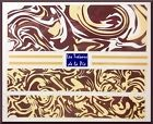 STICKERS ONGLES WATER DECAL (x5) - Nail art - Motif water marble - Chocolat